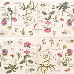 0551 Servilleta decorada flores