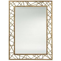 Arteriors Pollock Mirror Finish - Gold Leaf By (996.810 CLP) ❤ liked on Polyvore featuring home, home decor, mirrors, borders, picture frame, arteriors mirrors, flower mirror, rectangular beveled mirror, beveled mirror and iron wall mirror