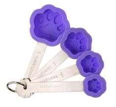 Silicone Purple Paw Measuring Spoons at The Animal Rescue Site, Funds 14 bowls of food. Dog Lover Gifts, Dog Gifts, Gifts For Mom, Pet Lovers, Unique Gifts, Best Gifts, Animal Rescue Site, Cute Kitchen, Measuring Spoons