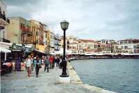 Chania harbourside in Crete - click to enlarge