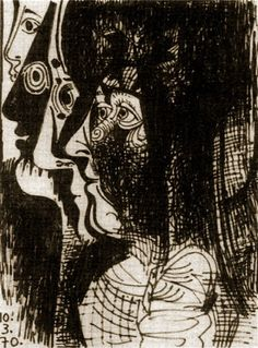 Pablo Picasso, 1970 Profils on ArtStack #pablo-picasso #art