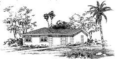 Ranch House Plan with 1200 Square Feet and 3 Bedrooms from Dream Home Source | House Plan Code DHSW01741