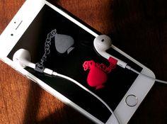 Earpod Earrings | Spades ♤ by JoyComplex