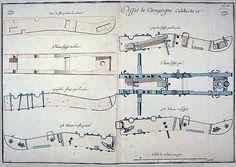 Planche originale de l'affût de campagne..visible au Musée de l'Armée (Invalides)