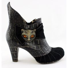 $189 Miaow from Irregular Choice. From other per pics, the high back edge looks like a tail. Super cute!
