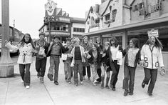 Above: It's the last day for Playland-at-the-Beach, Sept. 25, 1972, just before the auction sale and young people line up to get in on it. Left: Patrons at Playland in 1948 could still enjoy the Flying Scooters fun ride. Photo: Clem Albers / Clem Albers / The Chronicle 1972 / ONLINE_YES