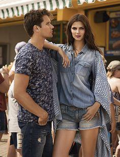 Colección Septiembre 2015 / Ir a comprar tendencia azul de mujer: www.tennis.com.co Ruffle Blouse, Tops, Women, Style, Fashion, Shopping, Trends, September, Blue