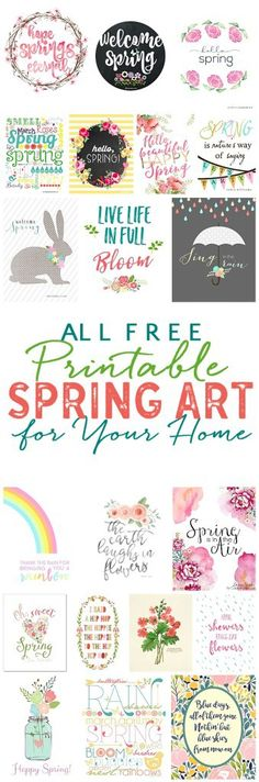 Pretty Free Spring Printables – Scrap Booking