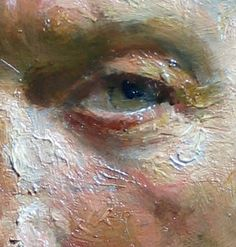 """Gregg"" by David A. Leffel. Detail of eyeball. Surface texture really enhances 3-dimensional effect."
