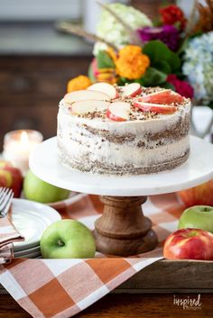Delicious German Apple Cake Recipe #germanapplecake #applecake #fallbaking #cake #fall #cinnamon #recipe #dessert Fall Dessert Recipes, Apple Cake Recipes, Fall Desserts, Delicious Desserts, My Favorite Food, Favorite Recipes, German Apple Cake, Cinnamon Cream Cheese Frosting, Fall Baking