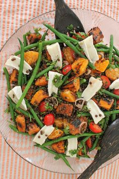 Food Lust People Love: Sweet Potato French Bean Lentil Salad #SundaySupper