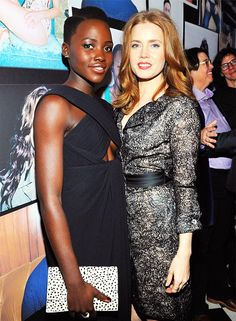Lupita Nyong'o and Amy Adams at W Magazine Golden Globe's Party
