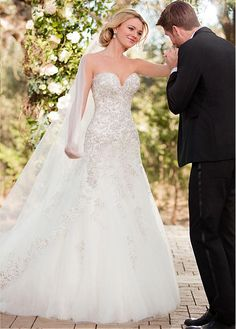 Buy discount Glamorous Tulle Sweetheart Neckline Mermaid Wedding Dress With  Beaded Lace Appliques at Dressilyme. 28d32a3e8b6d