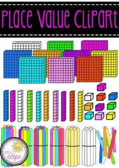 Place Value Clipart **COMMERCIAL USE***This mini-pack includes individual popsticks, popstick bundles of 10, base 100 blocks, base 10 blocks and units.Specifically:1 x BW popstick bundle - png1 x plain popstick bundle -png4 x multi coloured bundles - png1 x BW popstick - png1 x plain popstick -png6 x coloured popsticks -png1 x BW base 100, base 10 and unit - png and jpeg9 x bright colours of for each base 100, 10 and unit - png and jpeg74 clips in total.