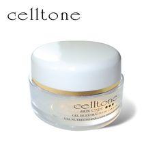 Slakkenslijm heeft, wetenschappelijk bewezen, een unieke en genezende eigenschap.  De Celltone gel bevat extracten van dit herstellende slakkenslijm. Het vermindert acne, rimpels en zelfs (zwangerschap) littekens. Daarnaast maakt het uw huid weer jong en stralend en voelt het na gebruik zijdezacht en glad aan.