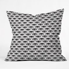 Wesley Bird Eyes on You Throw Pillow   DENY Designs Home Accessories