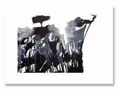 """Saatchi Online Artist Christine GUICHARD; Printmaking, """"Le chemin de l'eau"""" art contemporain"""