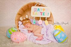 Easter Baby ... cutest thing ever. Photo by Joice Ruffing Photography. Newborn baby
