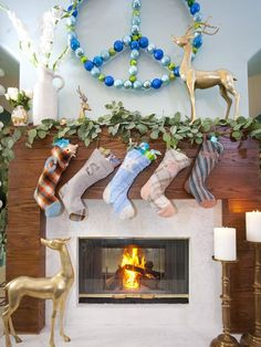 Hgtv Christmas Tree Decorating | Holiday mantel by HGTV's Emily Henderson