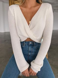 v neckline twist front sweater white sweater with twist front pullover sweater