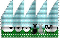 Ravelry: Border Collie & Sheep hat chart pattern by Meg Warren