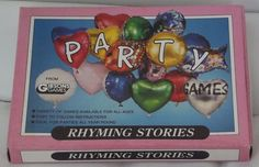 Vintage Party games Rhyming Stories RARE Gibsons Games