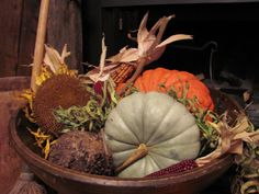 wooden bowl . . . fall harvesting  . . .