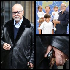 Céline Dion et René Angélil ☝️photo des enfants sur son portable