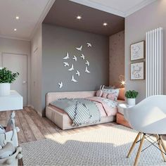 45 cute and girly bedroom decorating tips for girl 15 Small Room Bedroom, Home Decor Bedroom, Girls Bedroom, Cute Room Decor, Cute Bedroom Ideas, Wall Decor, Home Room Design, Kids Room Design, Room Kids