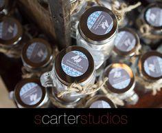 wedding favors, jars, twine www.scarterstudios.com