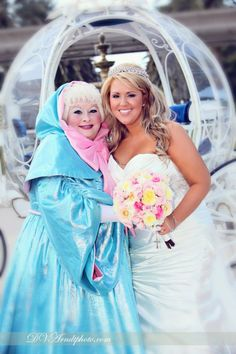 I always told my kids beach weddings - but if you get a fairy godmother at Disney why not?