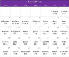 "April 2016 ""Peace"" prayer calendar ~ request yours today at calendar@iprayallday.com"