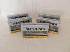 6 Realistic SUPERTAPE XR-90 Cassette Tapes Extended Range Premium Ferric TYPE I