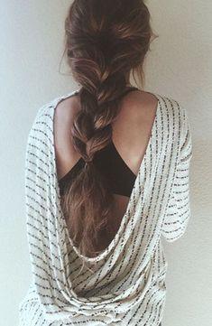 Thick braid.