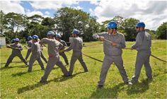 Primeira turma da Brigada de Emergencia do Estaleiro Atlantico Sul