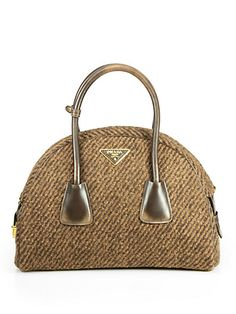 Prada Wool Boucle Bowler Bag: So classic, sigh.