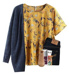 """""""happy first day of fall!!"""" by madelinelurene ❤ liked on Polyvore featuring Hollister Co., ID.AZ, Too Faced Cosmetics, Kendra Scott, Christian Dior and Lucky Brand"""