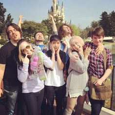 the grumps at disney world - arin, suzy, barry, kevin, danny, holly and ross