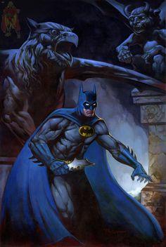 Batman by Lucas Troya , in Kirk Dilbeck's presents: Lucas Troya - Open for Commissions Comic Art Gallery Room Batman Dark, I Am Batman, Joker Batman, Batman The Dark Knight, Batman Robin, Gotham Batman, Spiderman, Batman Meme, Batman Cartoon