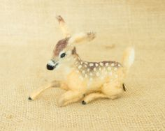 Levi the Fawn: Needle felted animal sculpture