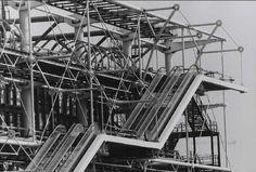 1977- Beaubourg - La construction du Centre Pompidou