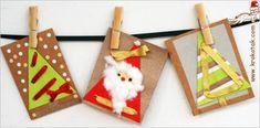 Cartes Noël coton et trous - Des cartes faites main pour vos proches