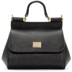 Dolce And Gabbana Black Micro Miss Sicily Bag ($845) ❤ liked on Polyvore