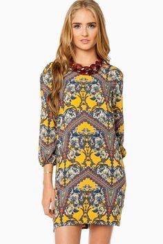 Rosenway Shift Dress in Yellow / ShopSosie  #shopsosie #sosie