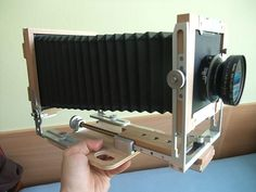 My handmade camera. DIY project based on Chamonix 45N. Made of beech wood and aluminum scraps.
