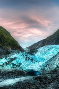 Franz Joseph Glacier, climbed it, ice pick and all (take me back!)