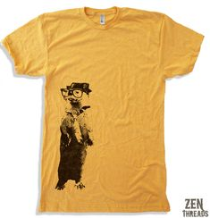 Men's River OTTER t shirt american apparel S M L XL (17 Color Options) on Etsy, $18.00