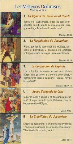 Mysteries of the Rosary Poster Set Praying The Rosary Catholic, Catholic Prayers In Spanish, Rosary Prayer, Catholic Religion, Holy Rosary, Catholic Quotes, God Prayer, Everyday Prayers, Catechism