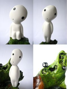I want lots of these to put in secret spots around my house     KODAMA Figures from Princess Mononoke $22.50