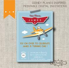 Disney Planes Inspired Birthday Invitation DIY Digital by arkadul, $12.00